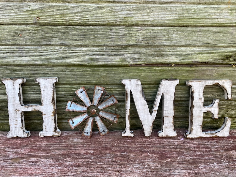 HOME Letters with Windmill