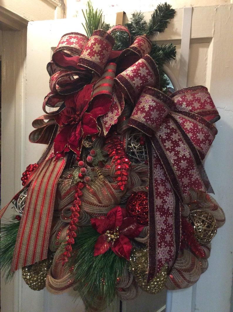 Christmas Tree Wreathchristmas Door Decorfront Door Etsy