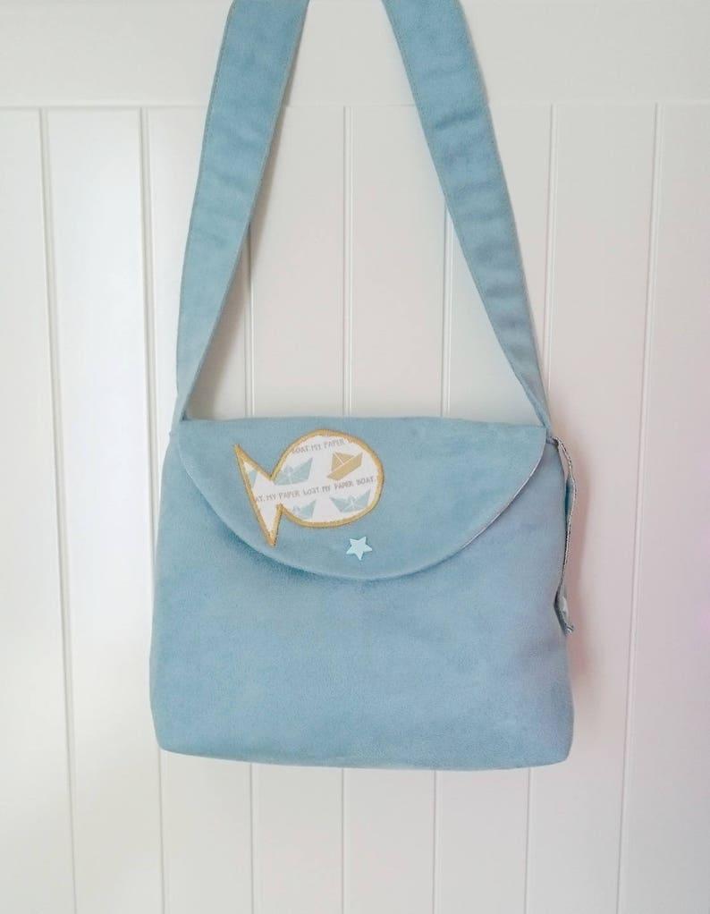 3b23d7a82c6a3 Handbag child girl or girl shape bag model fish gold suede. | Etsy