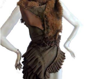 Unique sleeveless tunic