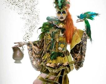 Original creation, ideal for photo show event designer dress, parade, Carnival