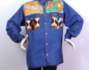 Chemise bleue Motif Jasmine Aladdin Taille M | Prix soldé !