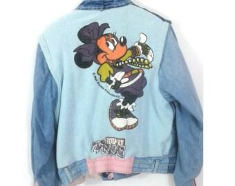 Rare pattern model Minnie vintage denim jacket