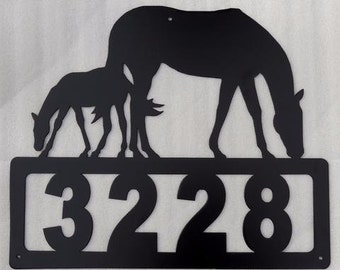 Mare and Foal Address Sign HN11A