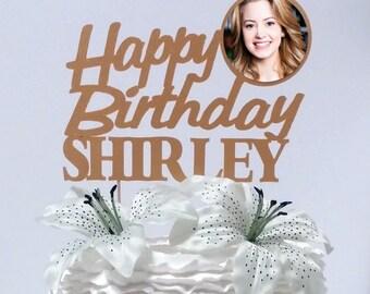 Glitter Birthday Cake Topper, Birthday Custom Cake Topper, Birthday Name Cake Topper, Personalized Birthday Topper