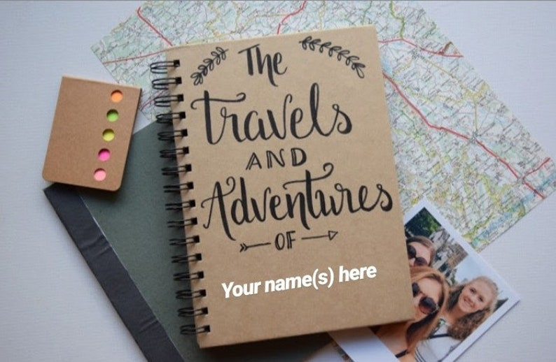 Personalised Travel Journal Notebook Adventure Book image 0