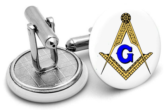 FREEMASON CUFFLINKS  Masonic Symbol Cuff Links  Masonry  Silver  Gift Boxed  Fraternal Group  Architect Gift