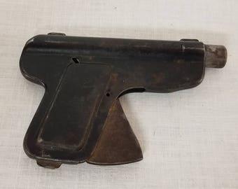 Vintage Metal Toy Water Gun, 1920s,  collectible toy, old toy, toy pistol, vintage game gun, water pistol, tin toy,