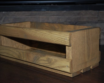 Wood box, crate centerpiece
