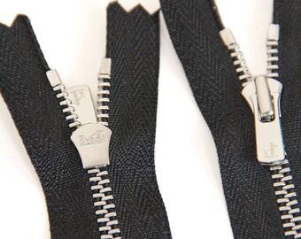 High End YKK Zippers Finest Quality zipper-36 inch YKK 5 Excella Antique Brass Zipper Closed Bottom Black