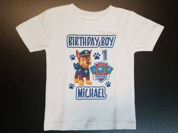 Birthday Boy Shirt Personalized Paw Patrol T First