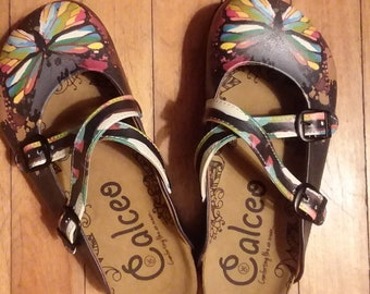 513fdbd6984e Calceo Butterfly clogs with Cork Footbed size 36