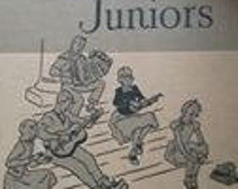 Singing Juniors Songs for Youth Vintage Children's Music Book Hardcover!