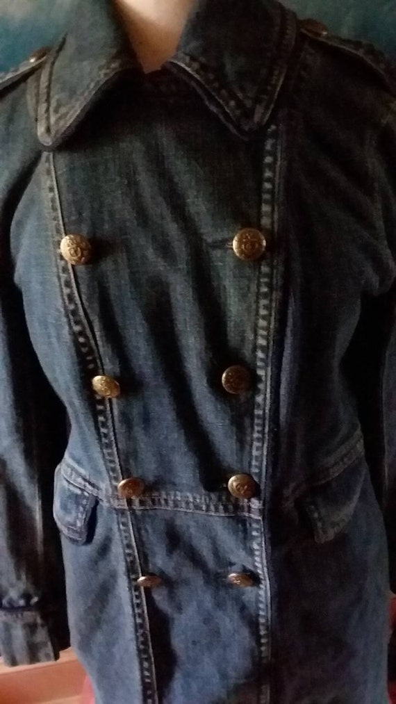 release date: reasonable price special for shoe LRL Lauren Jeans Co. Ralph Lauren Women's Size 12 Denim Jacket. Double  Breasted with Anchor Buttons.