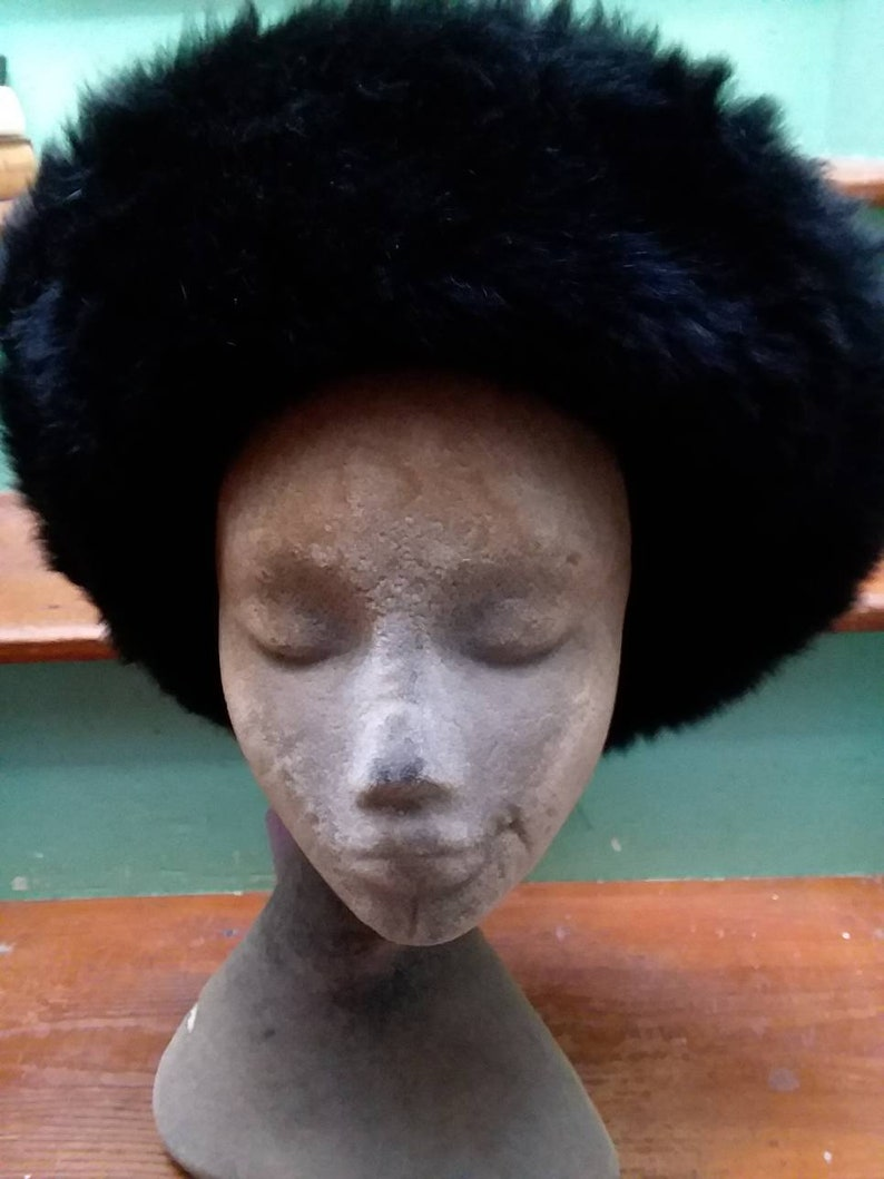 Vintage Mink Fur Christian Dior Chapeaux Paris New York Hat.  bd6bd9120eb
