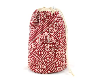 Embroidered Moroccan kit, red purse, black purse, moroccan red kit, black Moroccan kit, red embroidered fabric, black embroidered fabric