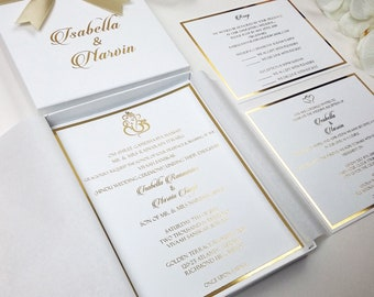 gold foil invitation etsy