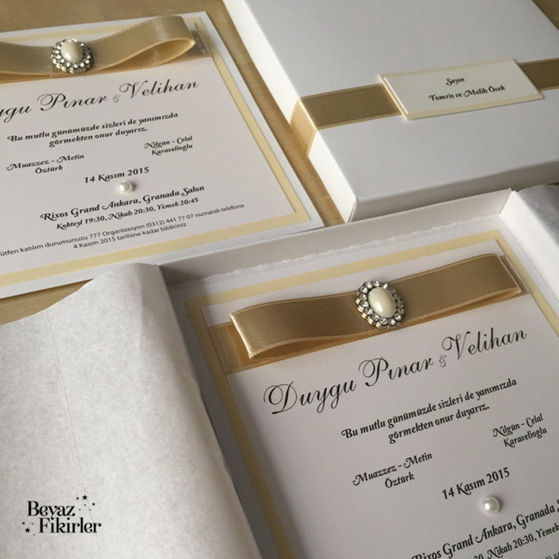 Boxed Wedding Invitations Box Boxes Modern SAMPLE