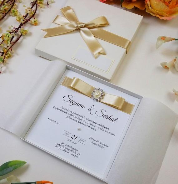 Boxed Wedding Invitations Box Wedding Invitations Wedding | Etsy