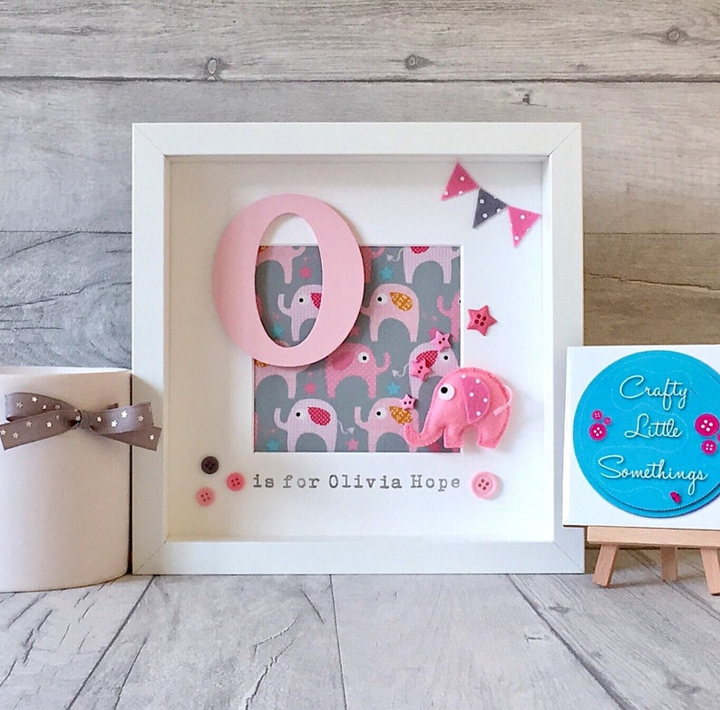 New Baby Girl Pink Personalised Gift