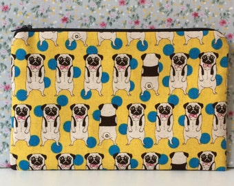 Pug Print Make Up Bag