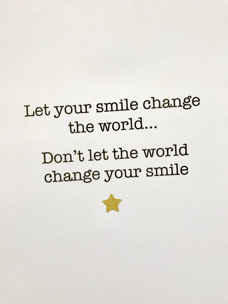 Let Your Smile Change The World Quote Print Motivational Etsy