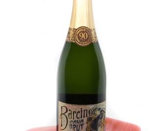 Peach Wine Accessories - Hostess Gift - Peach Wine Bottle Holder - Champagne Holder - Wine Tasting - Wine Lover Gift - Candle Holder - 1161