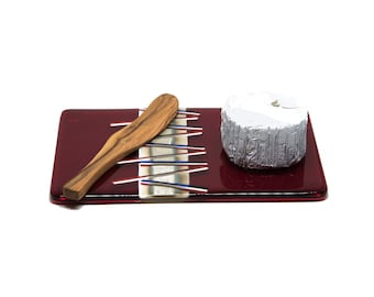 Cheese Plate Red White Blue and Silver Party Cheese Tray - 7048