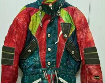 068ec87dce46 rare Vintage SALOMON Ski Neon Jacket Unisex Size L Large