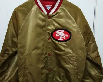 4bee3e133 Rare Vintage SAN FRANCISCO 49ers Embroidered Big Logo Varsity Jacket Size M  Medium Made In USA