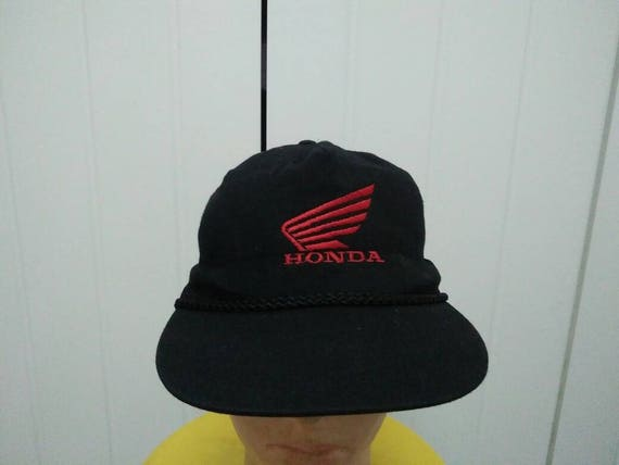 Rare Vintage HONDA Big Logo Embroidered Spell Out Cap Hat Free  1c4c3d6c48b6