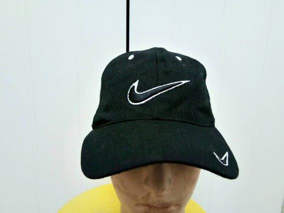 a5dd03b219444 Rare Vintage NIKE Big Logo Cap Hat Free Size Fit All