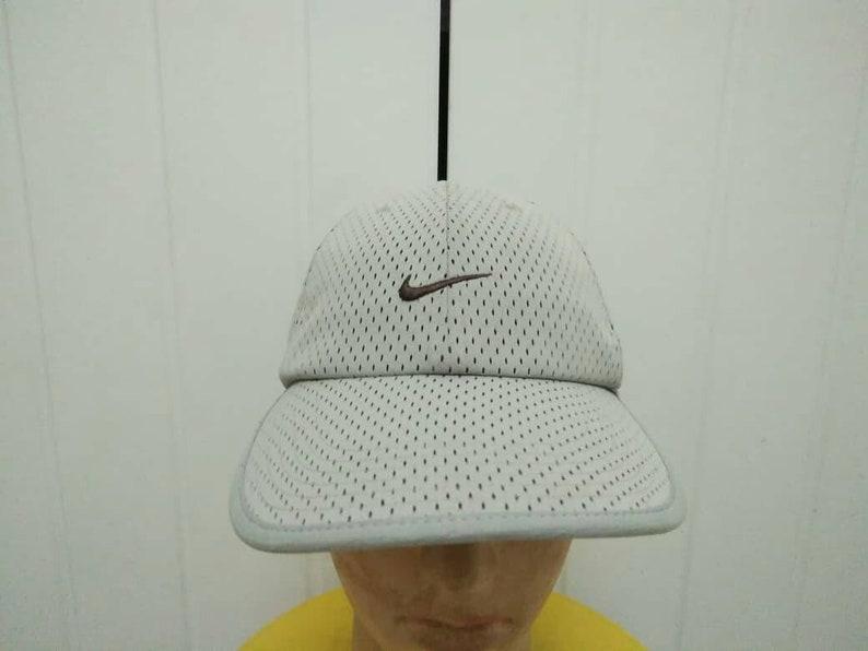 b6414f11 Rare Vintage NIKE Swoosh Cap Hat Free Size Fit All
