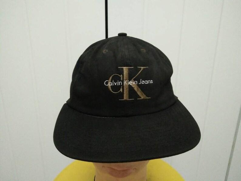 3a6269a08dc Rare Vintage CK CALVIN KLEIN Big Logo Spell Out Cap Hat Free