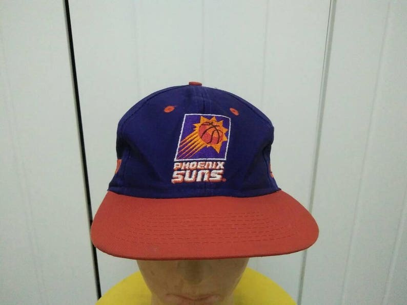 ee4afcf57 Rare Vintage PHOENIX SUNS Big Logo Embroidered Spell Out Cap Hat Free size  fit all