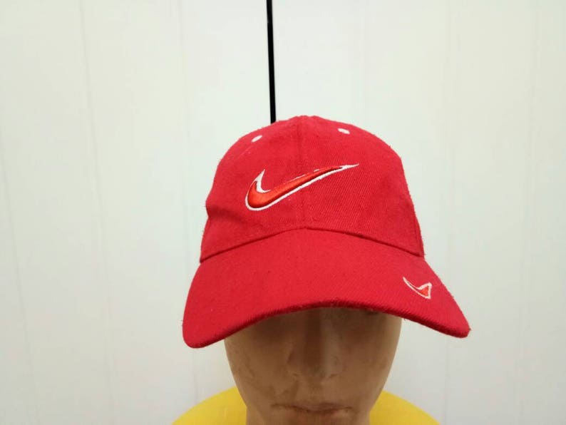 d7deab5954d4a Rare Vintage NIKE Big Logo Cap Hat One Size Fit All
