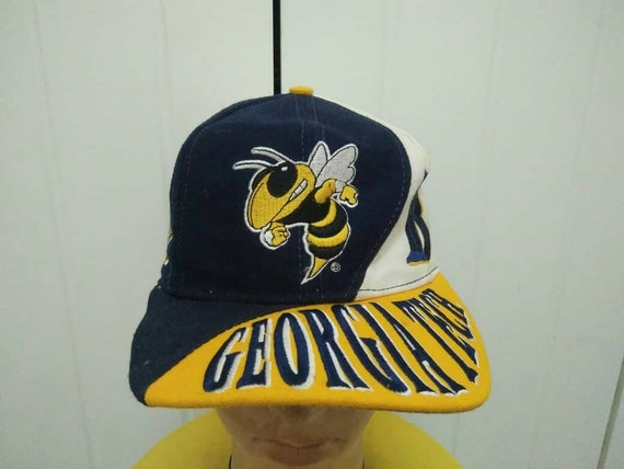 Rare Vintage GEORGIA TECH BUZZ Big Logo Spell Out CaP Hat Free  a42e9fc0a65