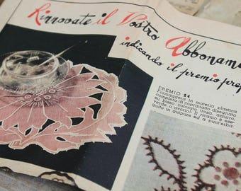 Original fairy hands envelope with vintage patterns