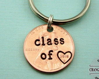 Class of 2020 Graduation Penny Keychain, Custom Keychain, Graduation Gift, Penny Keychain, Personalized Gift, Class of 2020, Graduation