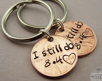 Custom I Still Do Penny Keychain, Anniversary Gift, Husband Gift, Gift for Husband, Gift for Wife, Wife Gift, Anniversary Keychain, Custom