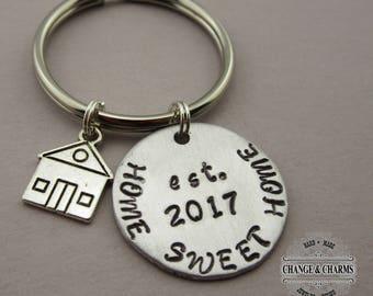 Custom Home Sweet Home Keychain a3895b0172cd