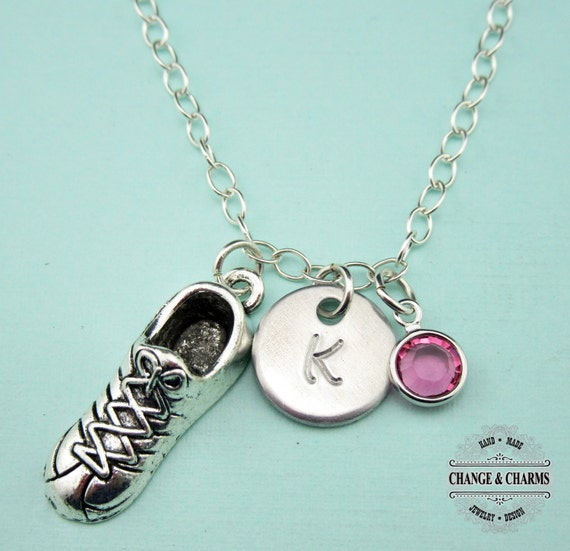 Custom Running Shoe Charm Necklace Running Necklace Sterling  4224bb08e1
