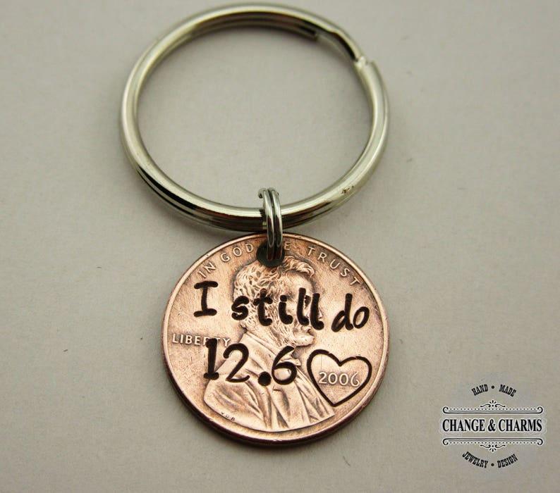 I still do Customized Penny Keychain Anniversary Gift image 0