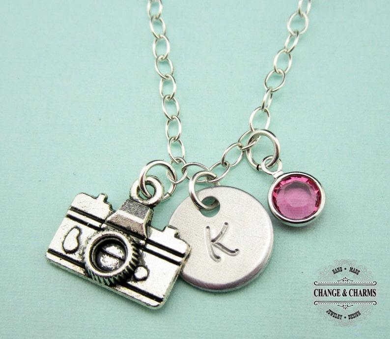 b83254ec26e5 Custom Camera Charm Necklace Charm Necklace Camera Charm