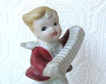 Jazz Musician Accordion SqueezeBox Player Figure Figurine Shelf Sitter Ornament
