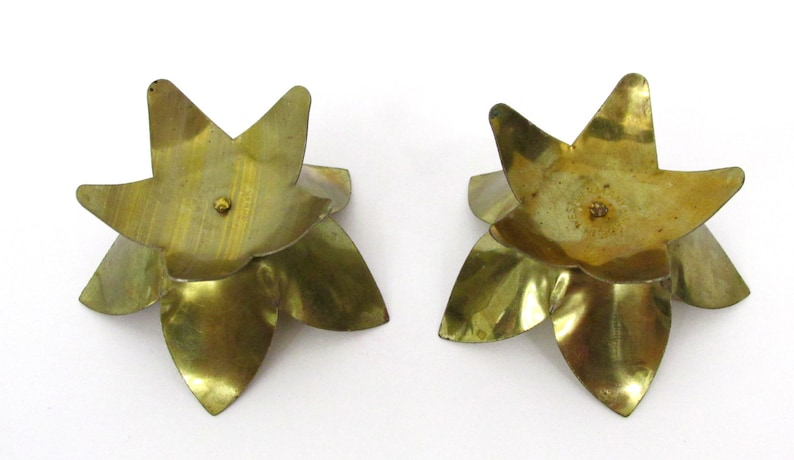 Small Vintage Candlestick Holders Made In West Germany Set of 2 Tiny Flower Candle Holders for Small Tapered Candles