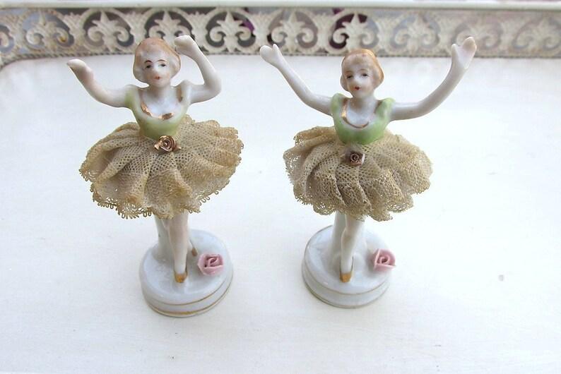 Vintage 1940s 1950s Porcelain Ballerina Figurines, Vintage Shelf Sitters  Shelf Decor, Ballet Dancer Figurines, Made in Japan