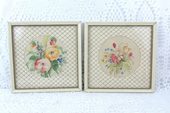 Vintage Watercolor Small Framed Wall Decor Vintage Wall Art | Etsy