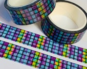 STAINED GLASS BASKETWEAVE Washi Tape 1 Roll For Planners Scrapbook Memory Keeping Art Junk Bullet Travel Journal Notebook Mixed Media Crafts