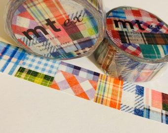 BLUE YELLOW COMPUTER Language Mt Washi Tape 1 Roll or Sample Planning Scrapbooking Art Travel Bullet Bible Junk Journal Mixed Media Crafts